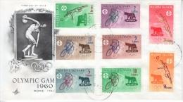 Maldives 42-9 FDc Cover   OLYMPICS - Maldives (...-1965)