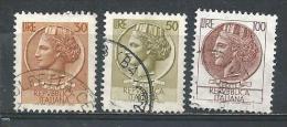 Italy. Scott # 998 H,J,P, Used. Definitive Issue. 1968-76 - 6. 1946-.. Republic