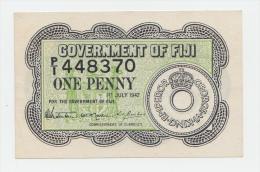 Fiji 1 Penny 1942 XF+ CRISP Banknote P 47 - Figi