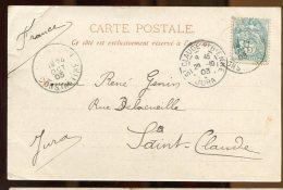 63587 - 1 TP, Tarif  5 C, Cad Type A MAC MAHON CONSTANTINE 1903 S/CP TB - Algérie (1924-1962)