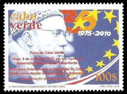 cv1005 Cabo Verde 2010 35th Anniversary of Independence Flag 1v Yver & Tellier:919 Scott:939