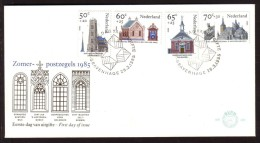 Jaar 1985 - FDC N° 226 -  N° Y/T  1236/39 - Zomerpostzegels 1985 - Architecture Sacrée. - FDC
