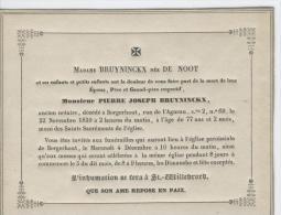 Bruyninckx Pierre époux De Mme De Noot, Ancien Notaire, Borgerhout, 22 Novembre 1839 - Obituary Notices