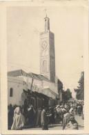 Lot 2 Cartes  Tanger  Carte Photo  Mosquée Et Plage - Tanger