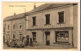 AUBANGE Café Cosmopolite Poste D' Essence Ave Voiture VW   Tankstation 1961? - Aubange