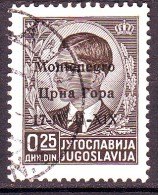 MONTENEGRO 1941  N.  1  NERO  USATO 1 VALORE - Montenegro