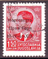 MONTENEGRO 1941  N.  3  NERO  ROSSO 1 VALORE - Montenegro