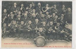 01 // Fanfare Et L'orphelinat De SEILLON Près Bourg,   B Ferrand édit   ANIMEE   MUSIQUE - France