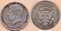 MONETA DA 1/2 DOLLARO DEL 1964 IN ARGENTO 0.900 CONDIZIONI COME DA IMMAGINE - Emissioni Federali