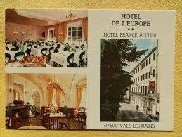 Dep 07 , Cpm VALS Les BAINS , Hotel De L'Europe , Multivues  , Recto/verso (81) - Vals Les Bains