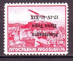 MONTENEGRO POSTA AEREA  1941 N.4a  NUOVO*  1 VALORE - Montenegro