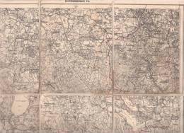 Landkarte Einheitsblatt 16 M 1:100000 Grabowen Rothebuder Forst Possessern Upalten Gollubien Czychen Giżycko Auf Le - Ostpreussen