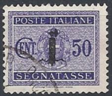 1944 RSI USATO FASCETTO SEGNATASSE 50 CENT - RR11654 - 4. 1944-45 Social Republic