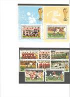 Sellos De Futbol + Hojitas.union De Islas Bequia Grenada Y St Vicent. - Copa Mundial