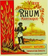 Vieux Rhum Martinique / Lithographie Ancienne - Rhum