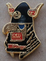 BALE - BASEL - 1972 GUGGE WIKINGER - CASQUE DE VIKING     - (GRENAT) - Cities