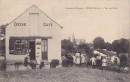 C - MURS  PRES D'ANGERS  VUE SUR MURS  EPICERIE  CAFE   CPA   CIRCULEE TRES ANIMEE - Non Classés