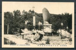Military Japan Russia War - Monument Mt. Hakugyku Ryojun - Japan