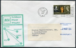 1964 GB London - Frankfurt Germany BEA Trident First Flight Cover - 1952-.... (Elizabeth II)