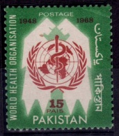 "(21) Pakistan  1968 Health / Sante / Gesundheit / Error Print ""Pais""   ** / Mnh  Michel 253 F - Pakistan"