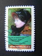FRANCE OBLITERE 2012 N° 675   MARY CASSATT SERIE DU CARNET PORTRAITS DE FEMMES DANS LA PEINTURE AUTOCOLLANT ADHESIF - France