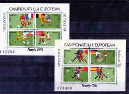 1984 - Champ. D Europe De Football Mi Bloc 205/206 Et Yv 168/169 MNH - 1948-.... Republiken