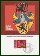 BLASON WALSER  CM LIECHTENSTEIN 1982 - Maximumkarten (MC)