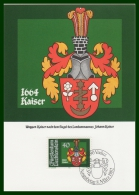 BLASON KAISER  CM LIECHTENSTEIN 1982 - Maximumkarten (MC)
