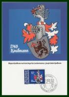 BLASON KAUFMANN  CM LIECHTENSTEIN 1982 - Maximumkarten (MC)