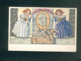 AK Allemagne - Königreich Bayern Postkarte Illustration Diez Ludwig 1886 1911 - Timbre - Oscar Consee - Allemagne