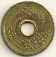 Japan 5 Yen Akihito Year 1 (1989) Y#95.1 - Giappone