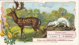 CHROMO CHOCOLAT D´AIGUEBELLE 26 MAMMIFERES DAIM HERMINE - Aiguebelle