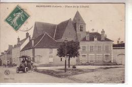45 BEAULIEU ( Loiret ) - Place De La Liberté - Animé Voiture Début Du Siècle Vue église Et Puits - édition Frélat CFM - Unclassified