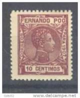 FPOO157-LB1035TAN. Guinea.Guinee..FERNANDO POO.ALFONSO XIII 1907  (Ed 157**) Sin Charnela.LUJO. - Unused Stamps