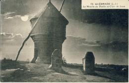 CP, 44,Guérande, Le Moulin Du Diable Au Clair De Lune, Vierge - Guérande