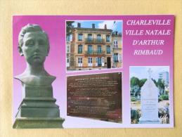 Dep 08 , Cpm  CHARLEVILLE-MEZIERES , Ville Natale D'Arthur Rimbaud , Multivues , Recto/verso (103) - Charleville