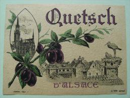 Etiquette Ancienne  - Quetsch D'Alsace  -   A Voir ! - Fruits & Vegetables