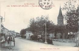 81 - St-Paul-Cap-de-Joux - Place Du Marché Et Rue Jeanne D'Arc - Saint Paul Cap De Joux