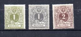Belgique 1884  3 Lions Couchés  *  42/44 * Cote 48 E - 1869-1888 Lying Lion
