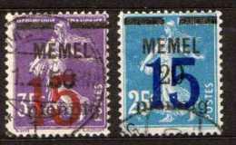 Memel 1921 Mi 47-48, Gestempelt [180513L] @ - Memelgebiet