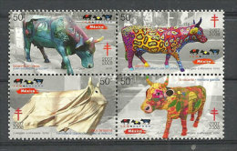 Mexique.les Vaches (Alebrivaca,la Vacante,vaca Oaxaqueño, Etc )  Bloc De 4  T-p Neufs ** - Landwirtschaft