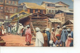 A Street Scene Srinagar City 1918 - Inde