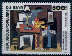 Art Painting Benin 1985 #395 MNH ** Picasso Ovpt Surcharge - Picasso