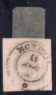 Sardegna - 1853 - 40 Cent. Rosa Chiaro - Annullo Mondovì - Sardegna