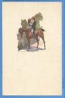 Cavalli E Innamorati  Illustratore  Santini - Original  Vintage Postcard - Cavalli