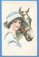 Cavalli E Donne  -  Original Vintage Postcard - Cavalli