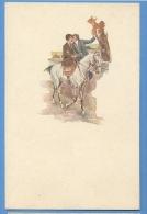 Cavalli E Innamorati  Illustratore  Santini - Original  Vintage Postcard - Chevaux