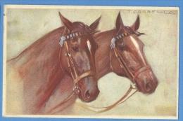Cavalli  Illustratore  Corbella - Original  Vintage Postcard - Chevaux