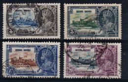 E0025 HONG KONG 1935, SG 133-36 Silver Jubilee  Used - Covers & Documents