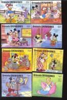 GRENADA  & GR  919-26 MINT NEVER HINGED SET OF STAMPS OF DISNEY ; HAFNIA   #  S-299   ( - Disney